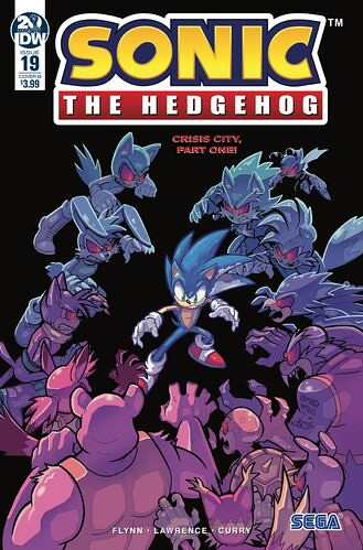 IDW Sonic the Hedgehog issue 19 Cover B