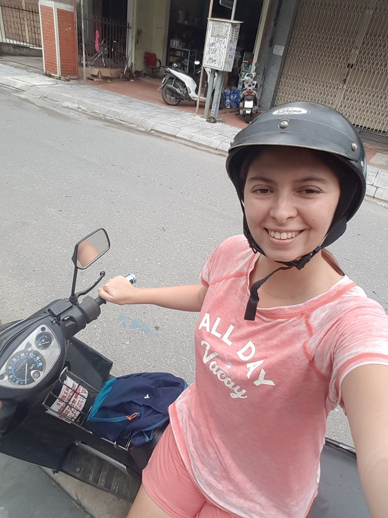 Me on a moped