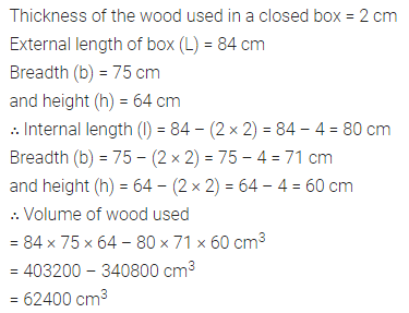 Maths Questions for Class 8 ICSE With Answers Chapter 18 Mensuration Ex 18.3 Q8