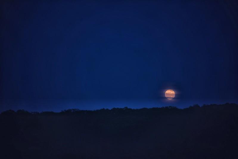 Full moon at Camp Bullfrog Lake