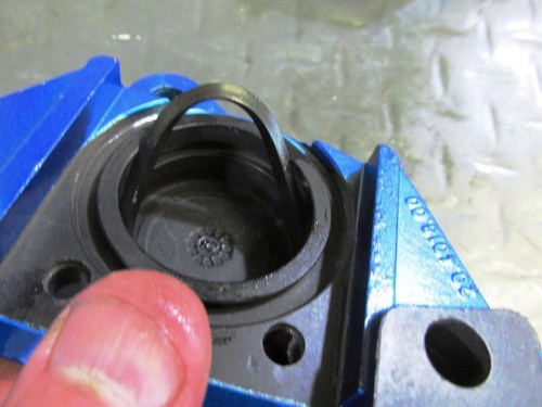 Putting Square O-ring In Groove Inside Caliper Bore