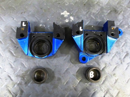 "Caliper Halves With Matching Pucks (""B"" Goes With ""Brembo"" Labeled Caliper Half)"