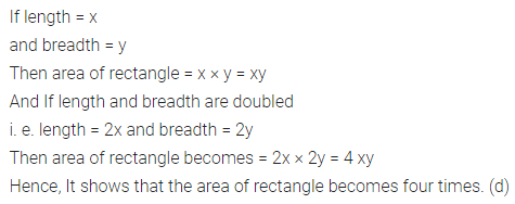 ICSE Class 6 Maths Solutions ML Aggarwal Chapter 14 Mensuration Objective Type Questions