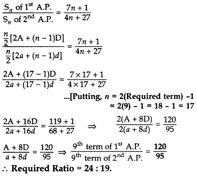 Important Questions for Class 10 Maths Chapter 5 Arithmetic Progressions 26