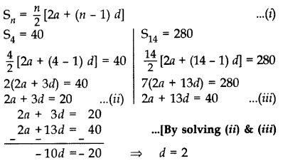Important Questions for Class 10 Maths Chapter 5 Arithmetic Progressions 20