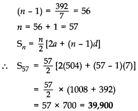 Important Questions for Class 10 Maths Chapter 5 Arithmetic Progressions 16