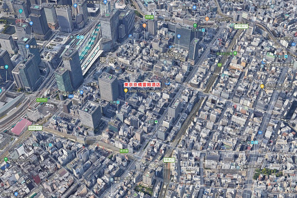 remm Tokyo Kyobashi Map
