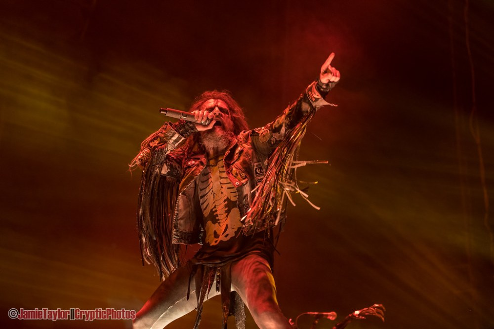 American musician Rob Zombie performing at Rogers Arena in Vancouver, BC on August 4th, 2019