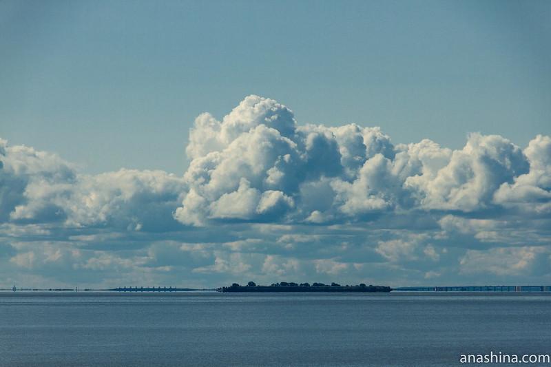 Дамба, финский залив, Санкт-Петербург