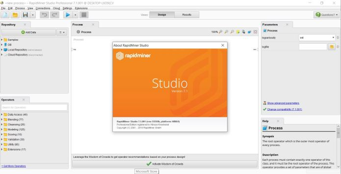 Working with RapidMiner Studio Professional 7.1.1 x64 full license