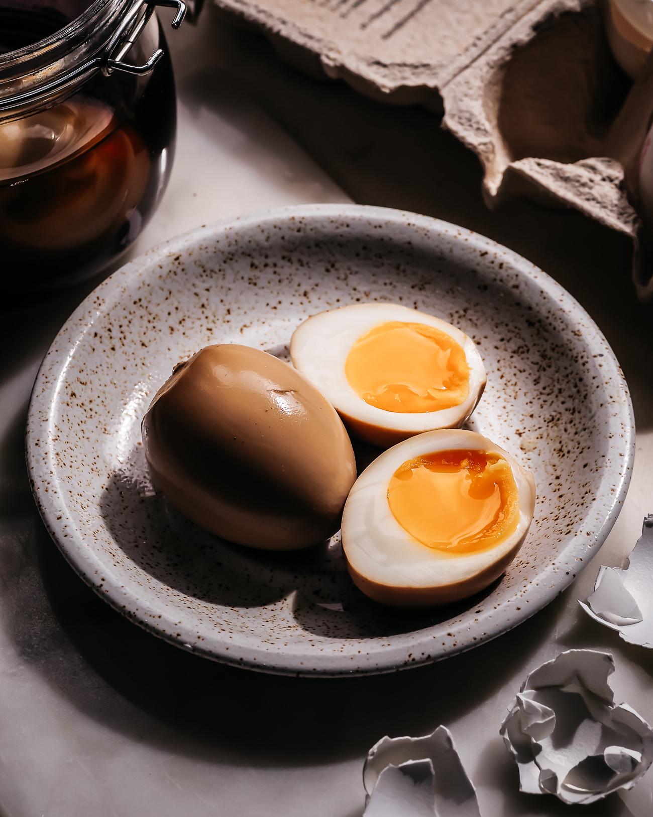 soijamarinoitu kananmuna