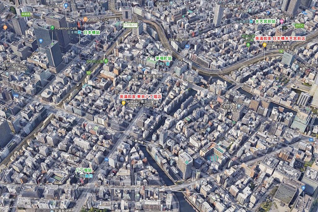 MIMARU Tokyo Hatchobori Map