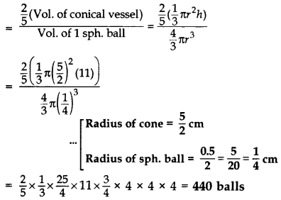 Important Questions for Class 10 Maths Chapter 13 Surface Areas and Volumes 76