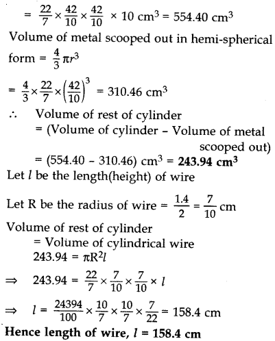 Important Questions for Class 10 Maths Chapter 13 Surface Areas and Volumes 62