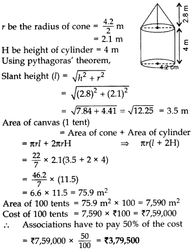 Important Questions for Class 10 Maths Chapter 13 Surface Areas and Volumes 14