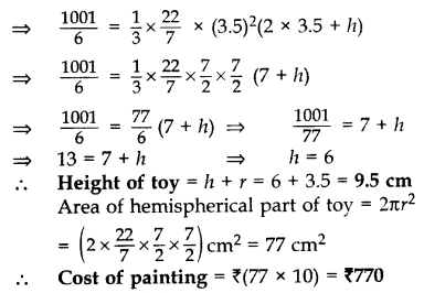 Important Questions for Class 10 Maths Chapter 13 Surface Areas and Volumes 13
