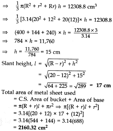 Important Questions for Class 10 Maths Chapter 13 Surface Areas and Volumes 63