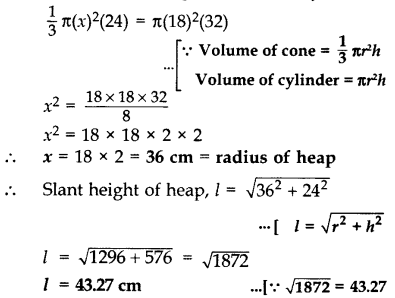 Important Questions for Class 10 Maths Chapter 13 Surface Areas and Volumes 38