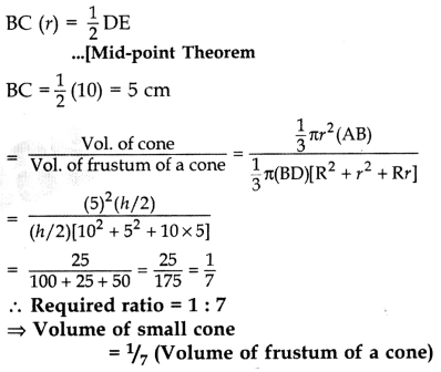 Important Questions for Class 10 Maths Chapter 13 Surface Areas and Volumes 24