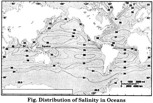 RBSE Solutions for Class 11 Physical Geography Chapter 19 Ocean Relief, Temperature and Salinity 5