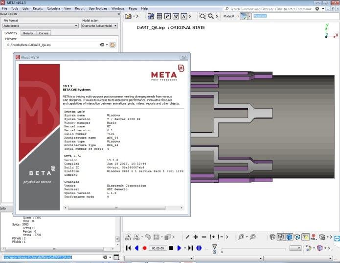 Working with BETA-CAE Systems v19.1.3 - META full license