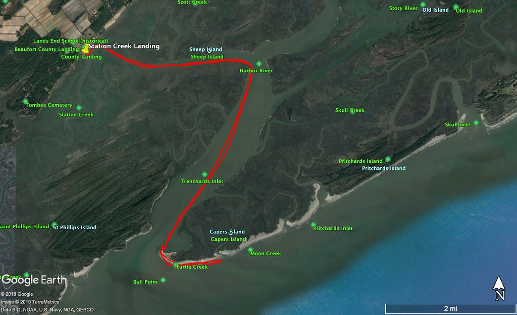 Capers Island Route