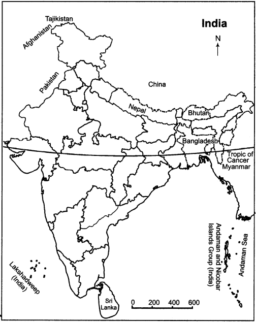 RBSE Solutions for Class 11 Indian Geography Chapter 1 India Location, Extent & Situation 1