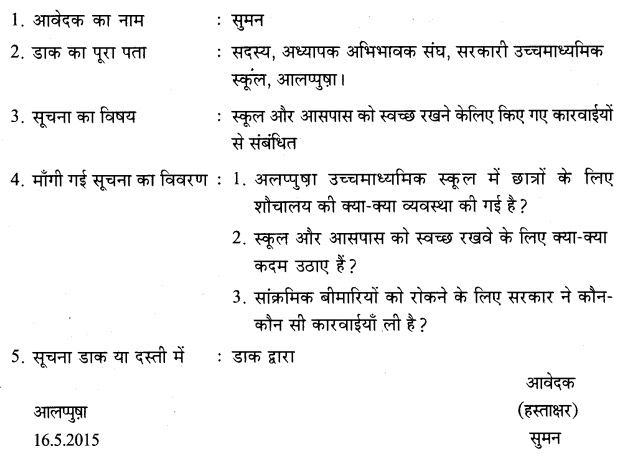HSSlive Plus One Hindi Previous Year Question Papers and Answers 2015 4