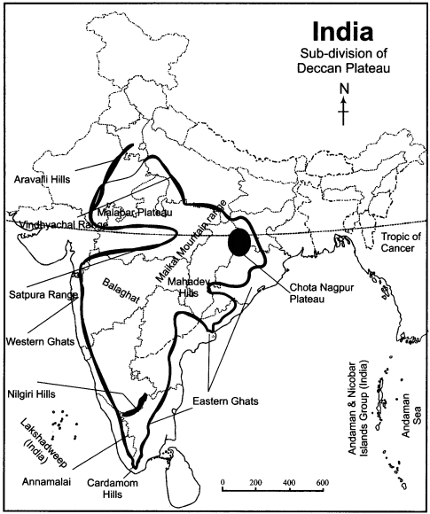 RBSE Solutions for Class 11 Indian Geography Chapter 4 India Structure, Relief and Physiographic Regions 2