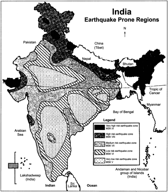 RBSE Solutions for Class 11 Indian Geography Chapter 10 Natural Disasters and Management, Earthquakes & Landslides 2