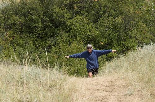 Saskatchewan Landing - Linda on a trail