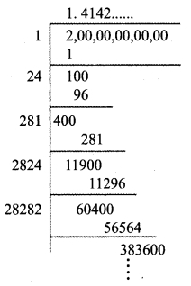 Tamilnadu Board Class 9 Maths Solutions Chapter 2 Real Numbers Ex 2.3 2