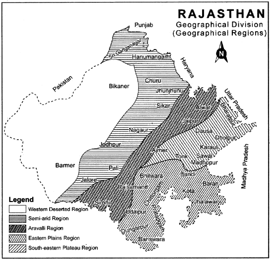 RBSE Solutions for Class 11 Indian Geography Chapter 12 Rajasthan Introduction, Physical Features and Drainage System 4