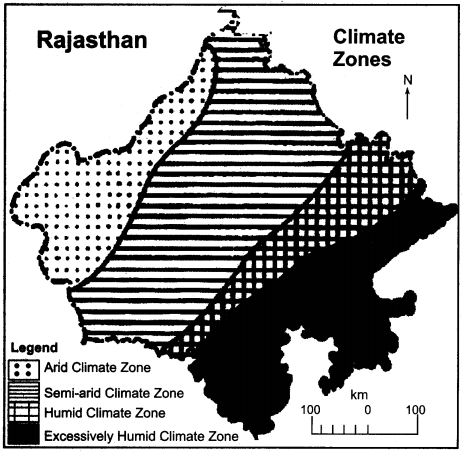 RBSE Solutions for Class 11 Indian Geography Chapter 13 Rajasthan Climate, Vegetation and Soil 6