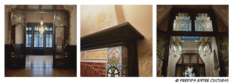 Interior de la Casa Coll i Regàs
