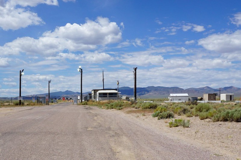 Area 51 Back Gate - Nevada State Route 375, aka the Extraterrestrial Highway, July 2019