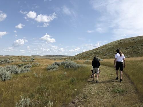 Grasslands National Park West Block - Linda and Colin on a trail