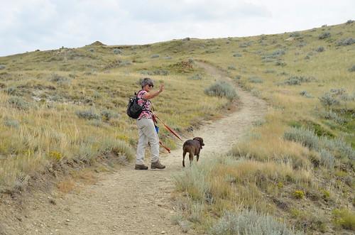 Grasslands National Park West Block - Linda on another trail