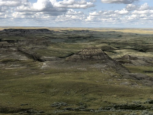Grasslands East Block - a butte