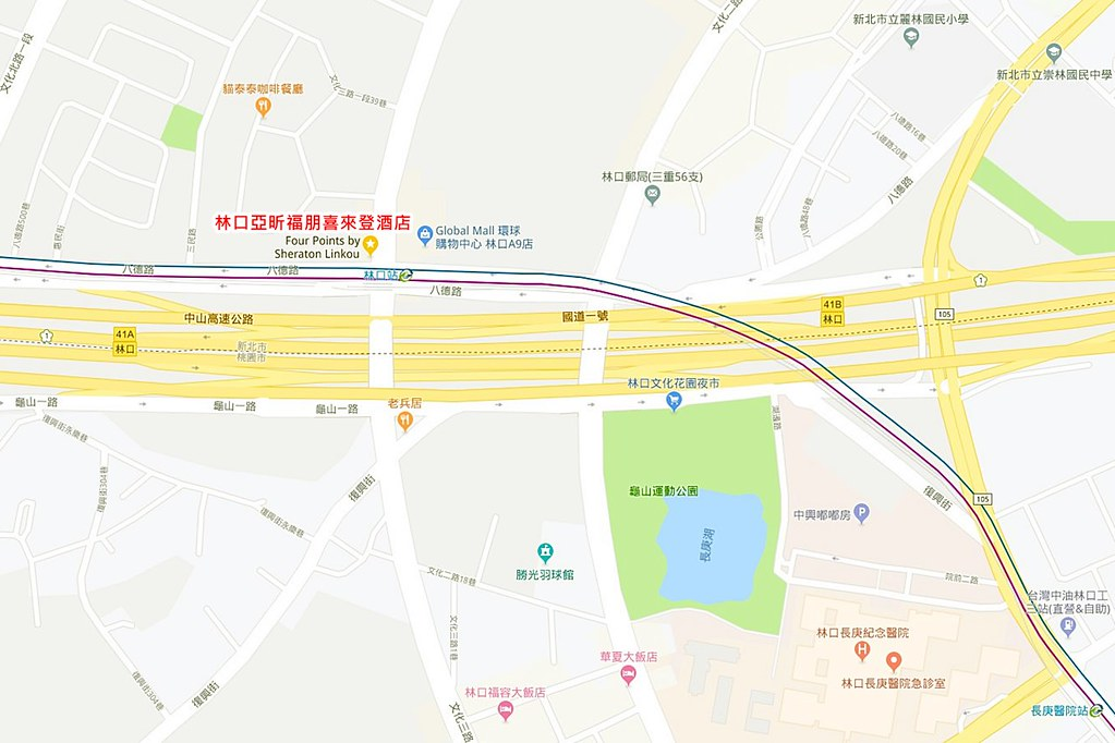 Four Points by Sheraton Linkou Map