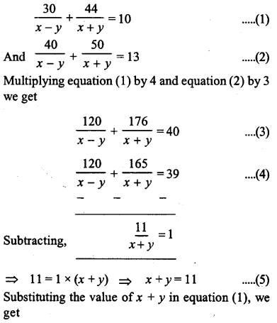 ML Aggarwal Class 9 Solutions for ICSE Maths Chapter 5 Simultaneous Linear Equations Chapter Test 9
