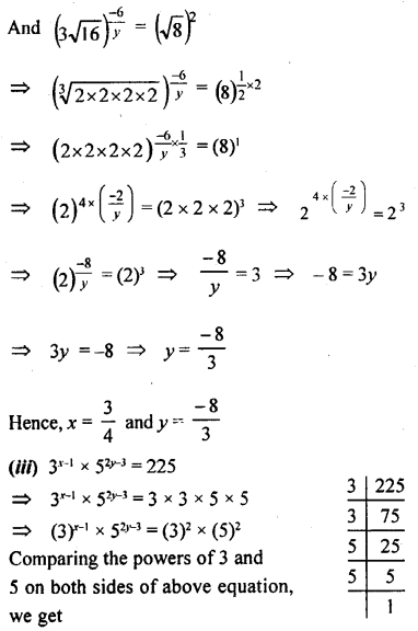 ML Aggarwal Class 9 Solutions for ICSE Maths Chapter 8 Indices Chapter Test 17
