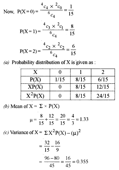 ISC Class 12 Maths Previous Year Question Papers Solved 2018 Q14