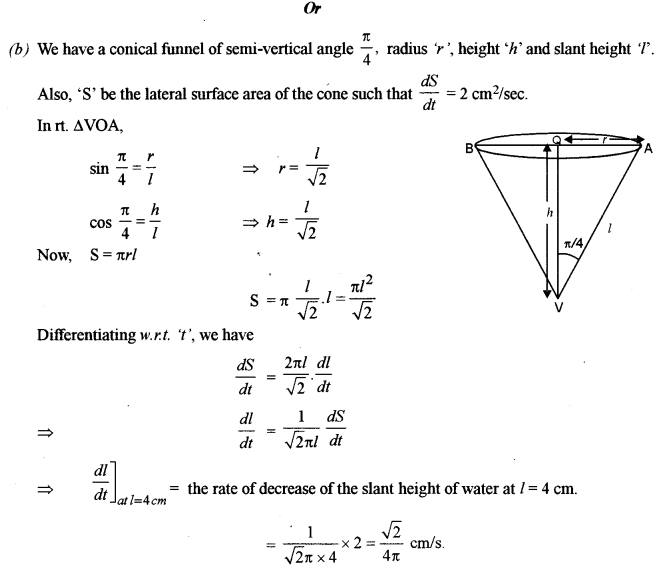 ISC Class 12 Maths Previous Year Question Papers Solved 2018 Q8.1