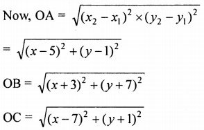 ML Aggarwal Class 9 Solutions for ICSE Maths Chapter 19 Coordinate Geometry Chapter Test 38