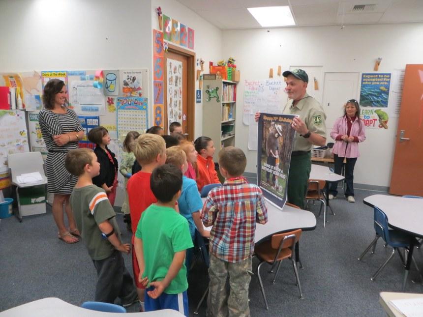 Entiat Ranger District Smokey Birthday Presentation Entiat Elementary School