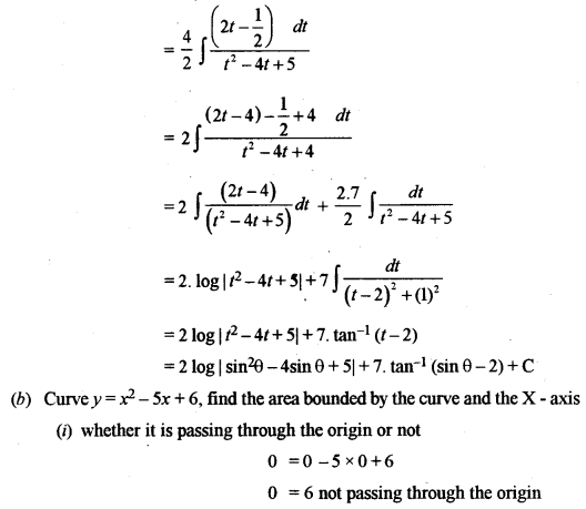 ISC Class 12 Maths Previous Year Question Papers Solved 2010 Q6.1