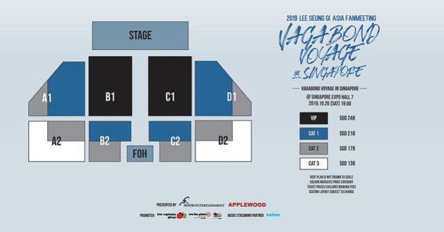 Lee Seung Gi 'Vagabond Voyage' Asia Fanmeeting in Singapore Seating Plan