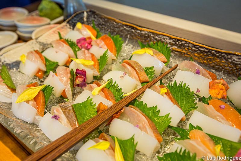 Sashimi au buffet du Risonare Atami