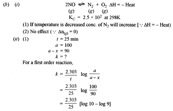 ISC Chemistry Question Paper 2016 Solved for Class 12 Q3.3
